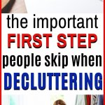 first step in decluttering