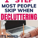 do this first with decluttering