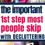 first step with decluttering