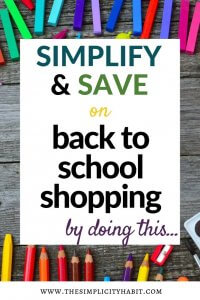 planning for back to school