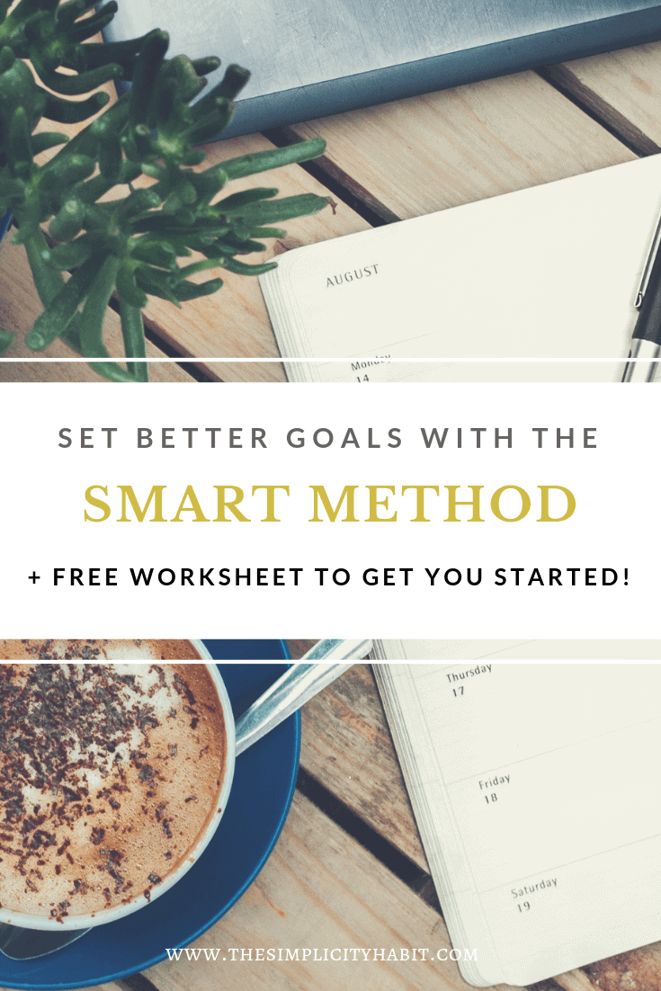 Smart Goals Template | Improve Goal Setting With The Smart Method The Simplicity Habit