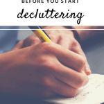 before you start decluttering