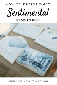 how to decide what sentimental items to keep