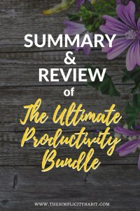 summary and review of the ultimate productivity bundle