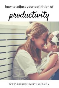 adjust definition of productivity