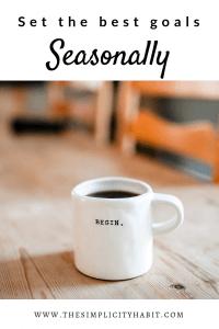set the best goals seasonally