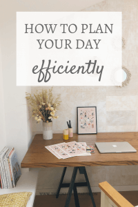 simply and efficiently plan your day