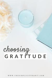 choosing gratitude every day