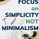 simplicity, not minimalism