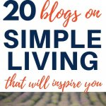 blogs on simple living, decluttering, and minimalism