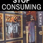 how to live simply in a consumer culture