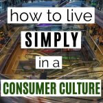 live simply in a consumer culture