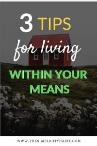 live within your means