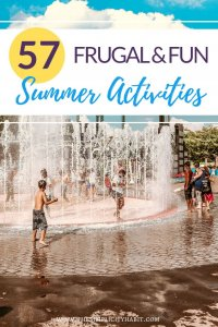 simple and frugal summer activities for kids