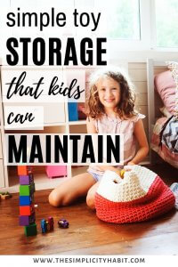 simple and easy toy storage