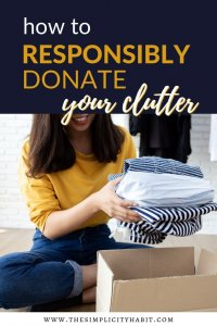 responsibly donate your clutter