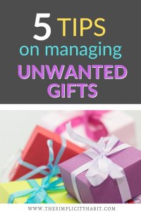 how to handle unwanted gifts