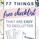 items that are easy to declutter