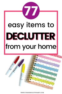 easy items to declutter