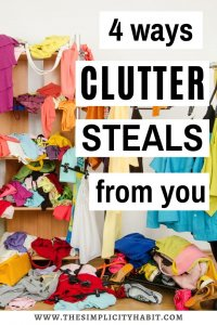 ways clutter negatively impacts