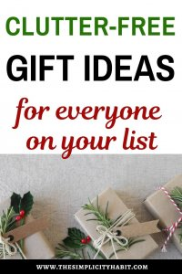 clutter free gift ideas for all ages