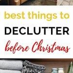 declutter before Christmas