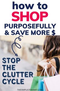 more intentional with shopping