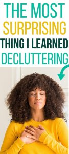decluttering makes you more grateful