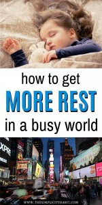 rest is so hard in a driven world