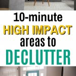 easy areas to declutter quickly