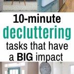easy 10-minute decluttering tasks