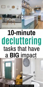 easy 10-minute decluttering tasks