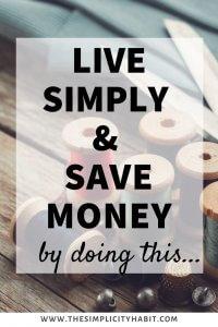 make do instead of buy new