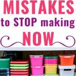 decluttering mistakes