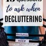 decluttering questions