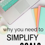 simplify your goals