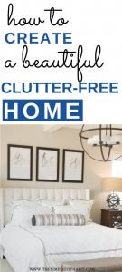 create a beautiful home without clutter
