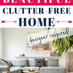 beautiful home without the clutter