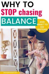stop chasing balance
