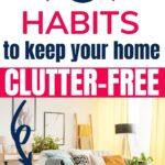 decluttering habits