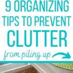 organizing prevent clutter