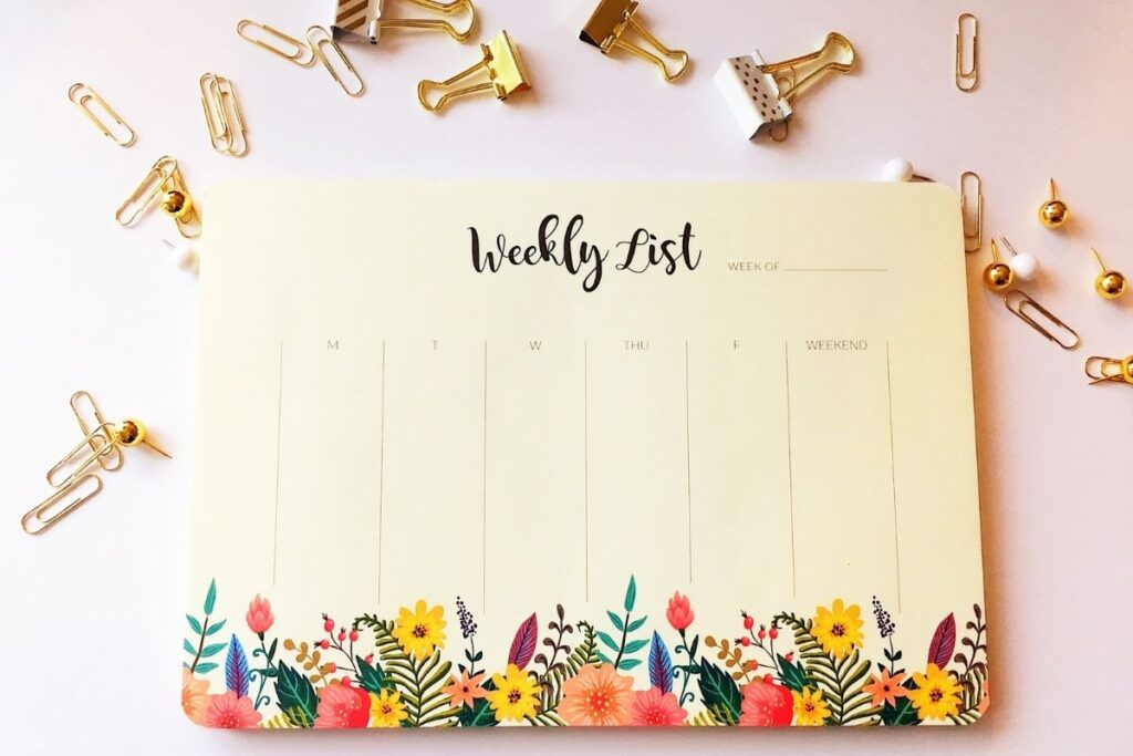 planning for the week ahead