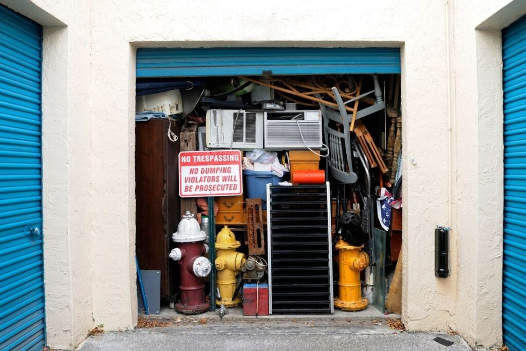how to clean out a storage unit