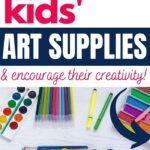 how to organize kids' art supplies