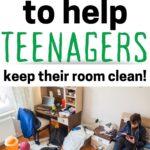 teen keep their room clean