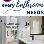 list of bathroom essentials