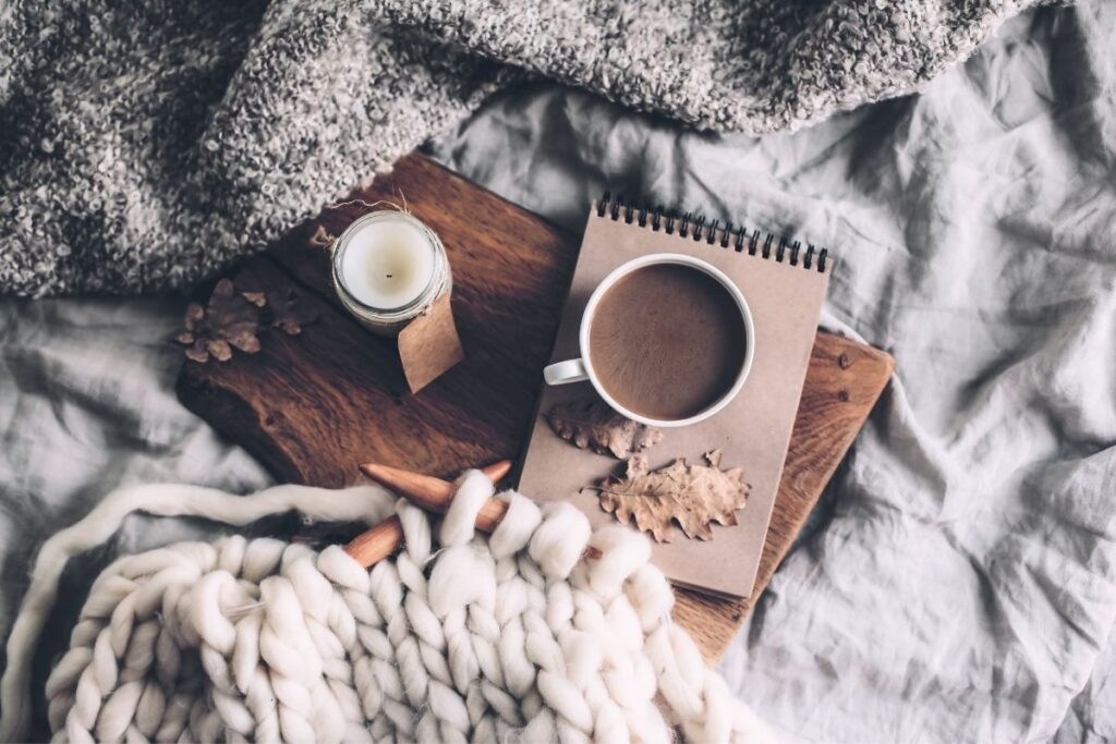 practice self-care on a cozy fall day